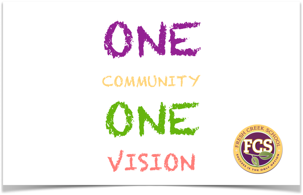Image that reads One Vision One Vision